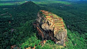 Sigiriya Rock Fortress, seen from above